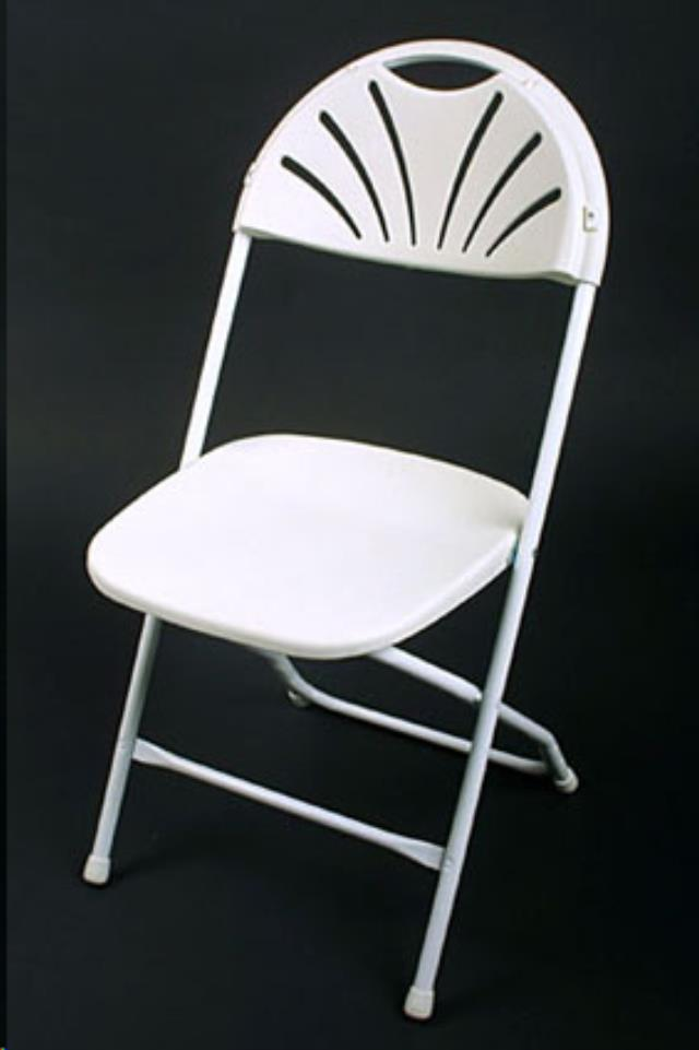 Where to find CHAIR, WHITE FAN BACK in Framingham / Hudson