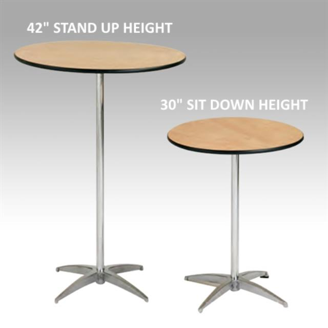 Where to find TABLE, 3  ROUND, SIT DOWN HEIGHT  30 in Hudson
