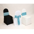 Where to rent CHAIR COVER - BLACK ROUND BACK POLY in Framingham / Hudson MA