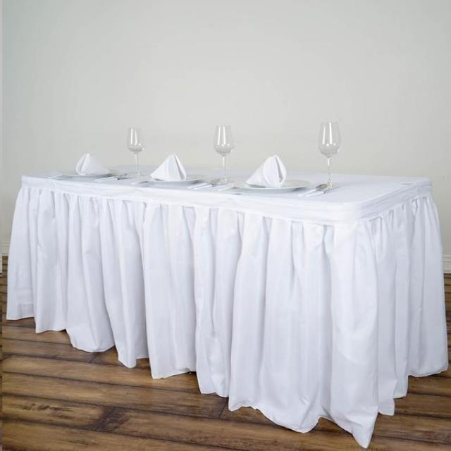 Where to find TABLE SKIRT 13 x30  SILVER in Framingham / Hudson