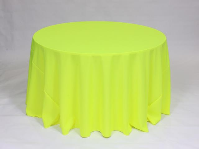 Where to find LINEN, 108  ROUND NEON YELLOW in Framingham / Hudson