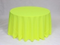 Where to rent LINEN, 108  ROUND NEON YELLOW in Framingham / Hudson MA